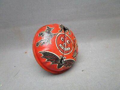 Vintage Halloween Rattle Noise Maker Wooden Handle Kirchhof Life of the Party