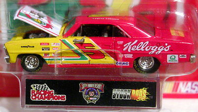 Racing Champions 66 1966 Chevy Nova Stock Rods Labonte Kelloggs Chevrolet Car Rd