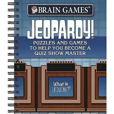 Brain Games Puzzle Books Jeopardy 27 Crossword Puzzles And 40