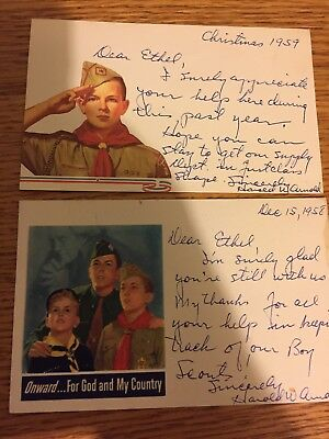 Vintage 1950s Boy Scouts Thank You/note Cards