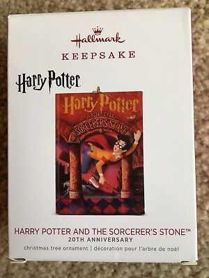 Hallmark 2018 Harry Potter and the Sorcerers Stone Book Ornament anniversary