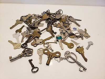 Large Lot Of Keys Antique Vintage - Skeleton, Ford, Wind Up, Puzzle