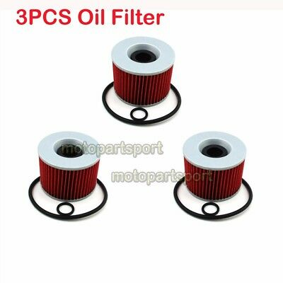3x Oil Filter For Yamaha XJR1300 KAWASAKI ZR7S ZR400 ZR750 ZR7S ZZR1200 EX250R