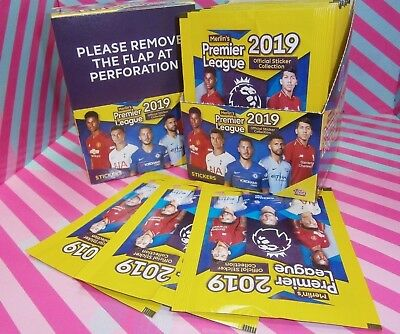 Topps Official Premier League 2019 Stickers Collection Choose 10 25 50 packs or