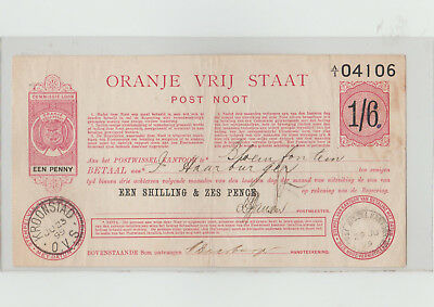 currency  south africa post note boer war