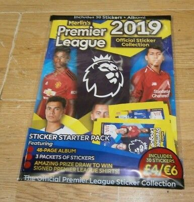 Topps Official Premier League 2019 Collection Starter Pack: Album + 30 Stickers