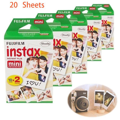20 PCS Fujifilm Fuji Mini White Instant Film Instax For 7s 8 25 50s 70 90 Camera