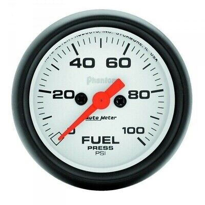 Auto Meter Phantom Series Fuel Pressure Gauge 5763 0-100 Psi