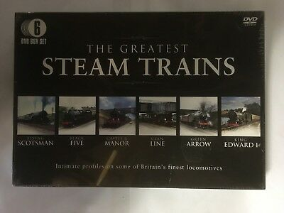 The Greatest Steam Trains - Locomotives 6dvd Boxset NEW & Sealed BW