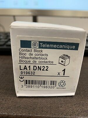 Telemecanique LA1 DN22 Auxiliary Contact Block LA1DN22 DN22 *LOT OF 2/4/8*