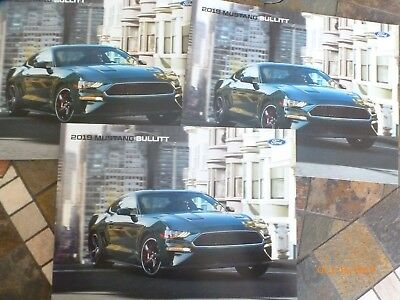 Three 2019 Ford Mustang Bullitt Auto Dealer Brochures
