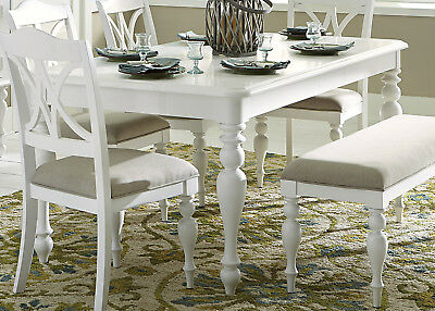 Liberty Summer House Casual Dining Room Set with Dining Table and Side Ch