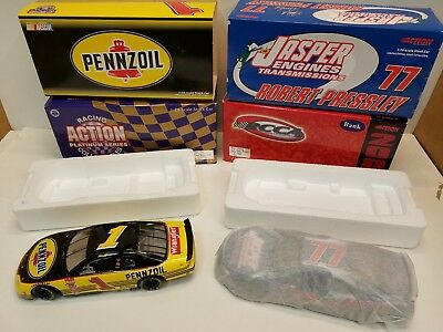 Action Collectables Nascar Steve Park #1 & Robert Pressley #77 Diecast Car 1:24