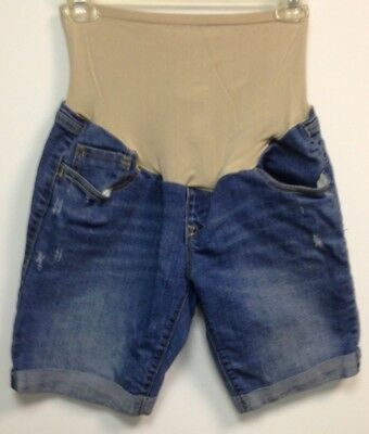 Old Navy Womens Maternity Blue Jean Shorts Size 6 Pre-owned