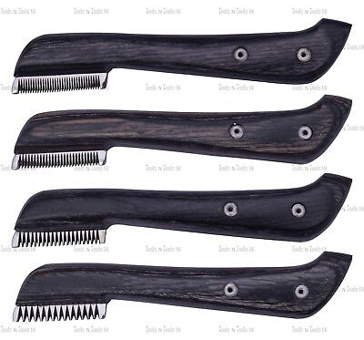 Black Hand Stripping Knife Cat Dog Pet Grooming Comb Hair 4 Piece Coarse F,s,m