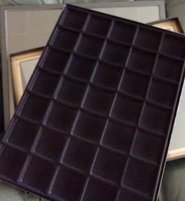 2 jewelry case riker mount display shadow box 12X16 with flocked insert 35 black