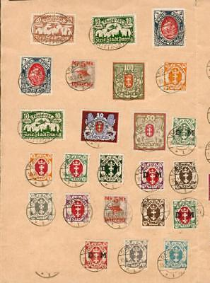 Danzig Gdansk 47 stamps on sheet used Inflation ch53-2