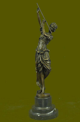 Hand Made by Lost Wax Method Artifact Dancer by Colinet Bronze Sculpture statue