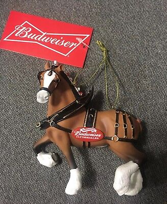 Budweiser Clydesdale Horse Christmas Tree Ornament 2018 NEW !!!