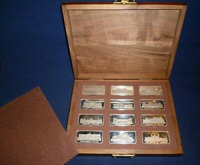 The Birmingham Mint Royal Palaces Collection of 12 Sterling Silver Ingots