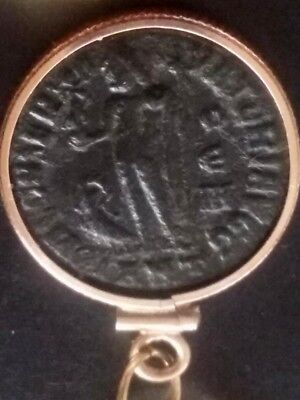 Constantine Great Authentic Ancient Roman Coin GoldFilled Necklace Pendant Charm