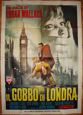 The Hunchback of Soho-A.Vohrer-Horror-Edgar Wallace-Italian 2sh (39x55 inch)
