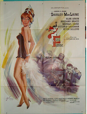 Woman Times Seven-Sex Comedy-Shirley MacLaine-French (47x63 inch)