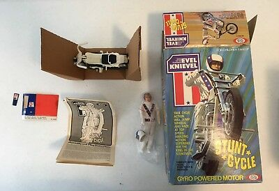 Evel Knievel Stunt Cycle With Box Ideal Toys 1975 Vintage