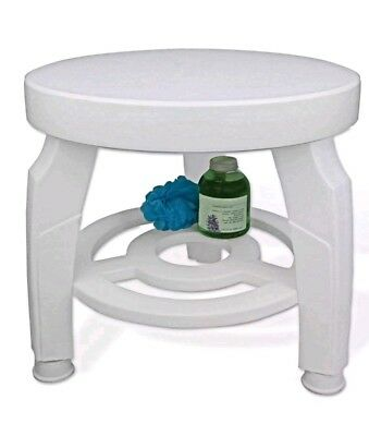 Swivel Shower Stool Seat Bath Shower Seat  Comfort Mobility Safety Showering BN