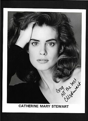 Catherine Mary Stewart signed  8x10 B&W photo / autograph inscribed to greg- COA