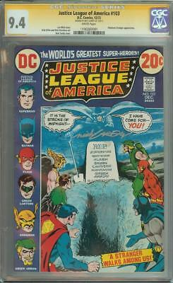 Justice League Of America #103 Ss Cgc 9.4 Signed By Nick Cardy Auto Batman