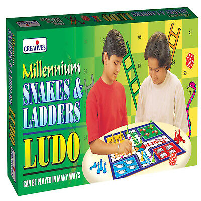 Cretive Educational Millennium Ludo Snakes and Ladders Board Game Fun Play NEW