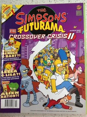 Simpsons Comics: March 2005: The Simpsons Futurama Crossover Crisis: Bongo: #103