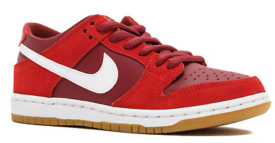 best service b288b abae4 Mens Nike Sb Zoom Dunk Low Pro Skateboarding Shoes Track Red 854866-616 Sz  10