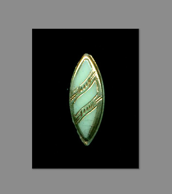 Antique Victorian Glass Button…Mint Green Spindle