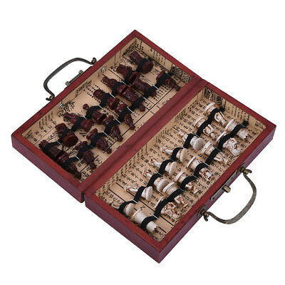 High Quality Chess Table Set Antique Classic Board Game Wooden Storage Box