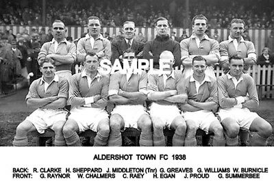 Aldershot FC 1938 Team Photo