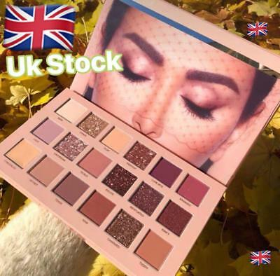 2018 New Huda Beauty The Nude Matte 18 Colors Eyeshadow Palette Make Up Gifts UK