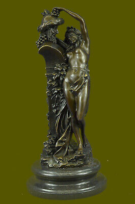Bronze Sculpture, Female Nymph Hot Cast Masterpiece Detailed Figurine Figure Art