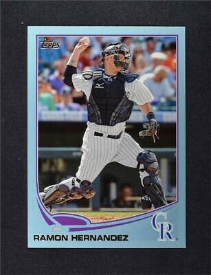 2013 Topps Wal-Mart Blue Border #165 Ramon Hernandez - NM-MT