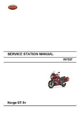 Moto Guzzi workshop service manual 2009 Norge GT 8v