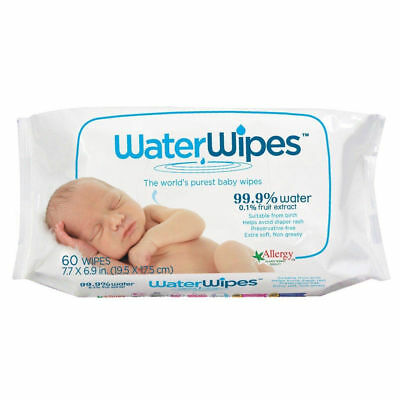 "DERMAH2O DermaH20 Water Wipes - ""Worlds Purest Baby wipes"" 60s"