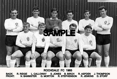 Rochdale FC 1965 Team Photo