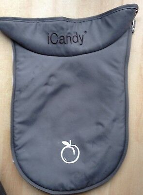 iCandy Peach Blackjack Grey Main Carrycot apron cover