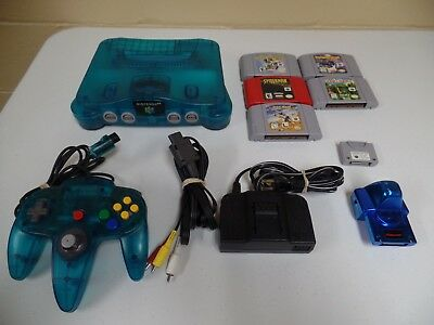 Nintendo 64 Ice Blue Console With 5 Games