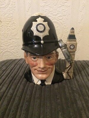 Superb ROYAL DOULTON THE LONDON BOBBY POLICEMAN CHARACTER JUG D6762 1985