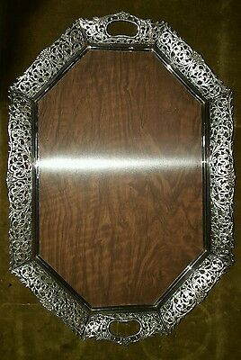 Dutch Silverplate serving tray ( very nice decorated )