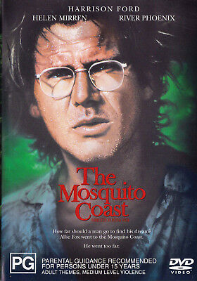 THE MOSQUITO COAST Harrison Ford DVD R4 PAL New SirH70