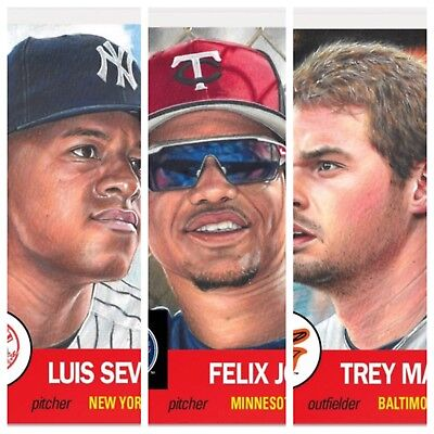 2018 Topps Living Set #115 Luis Severino #116 Felix Jorge #117 Trey Mancini LOT