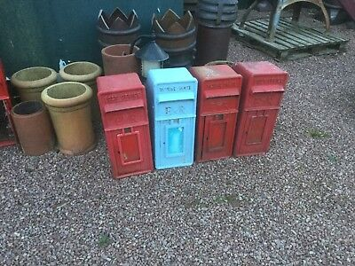 "Post Office ""Royal Mail"" Genuine, ER cast iron Front, GPO Post Box & Stand."